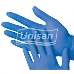 Luvas nitrilo azul